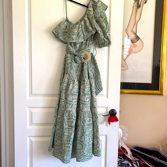 NWT ASOS one sleeve prairie maxi dress size 10